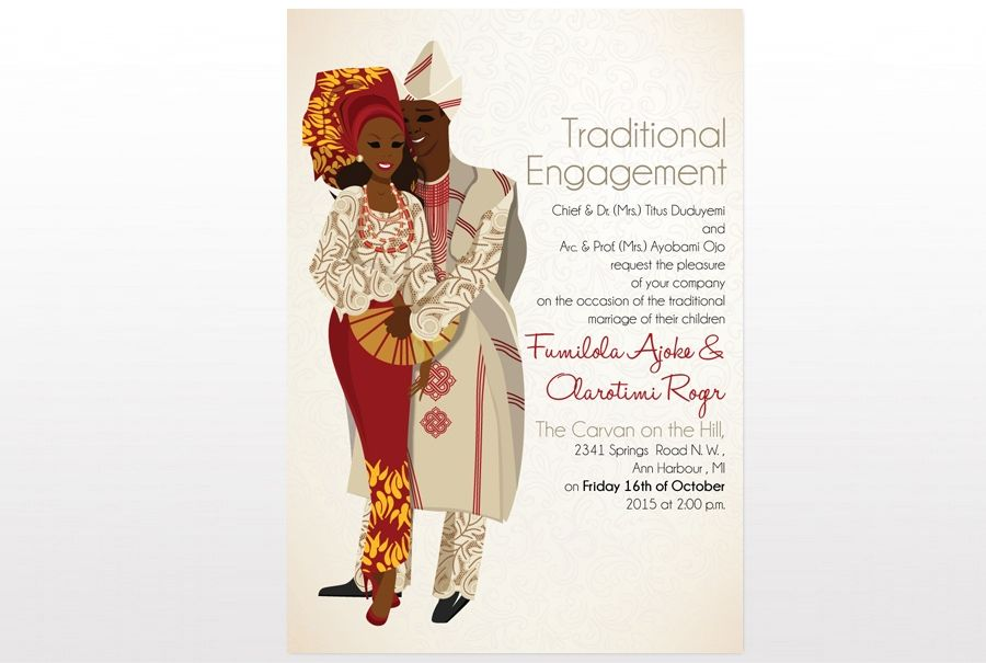 Ade Ori Mi Nigerian Yoruba Traditional Wedding Invitation