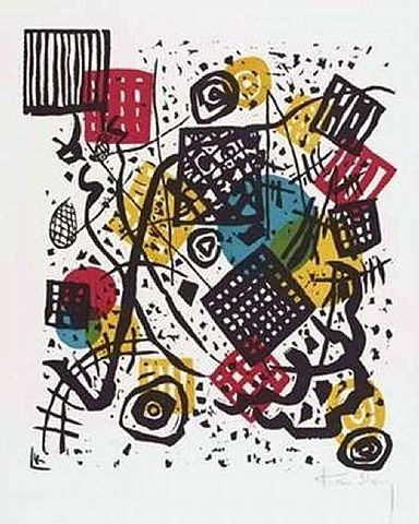 artnet Galleries: Kleine Welten V by Wassily Kandinsky from DTR Modern Galleries
