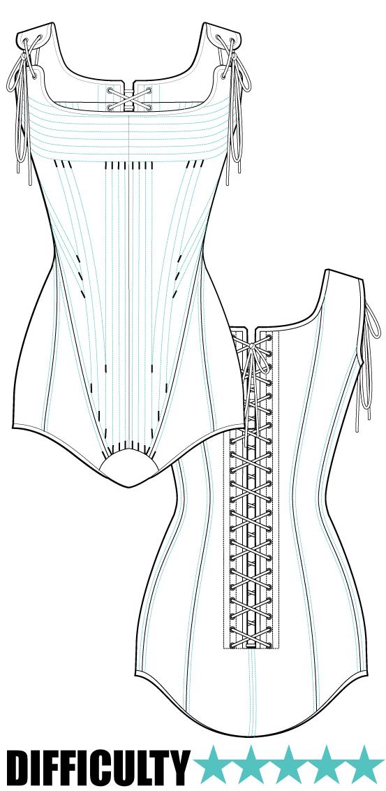 downloadable pattern site | corset | Pinterest | Costura, Patrón de ...