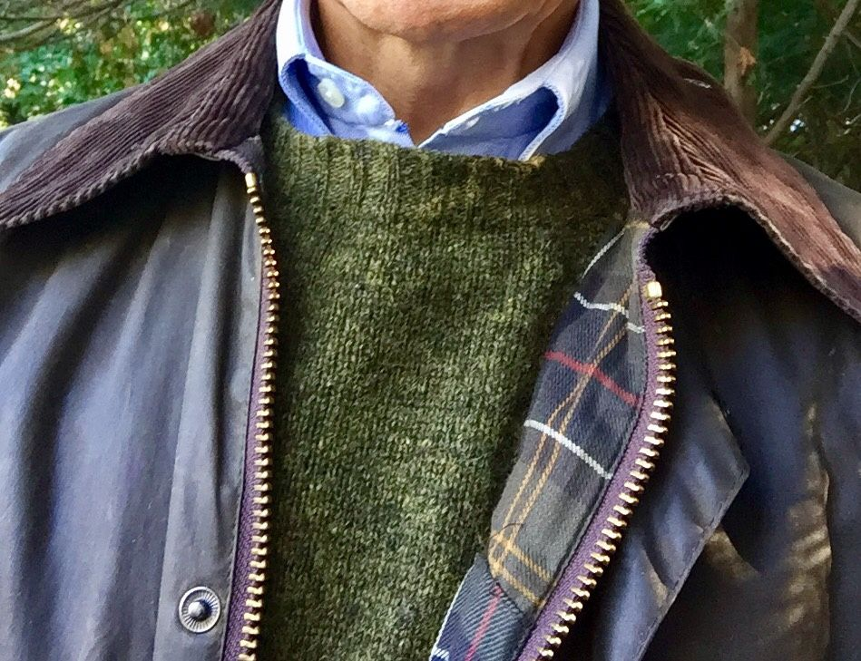 """michigantrad: """" Autumn chill brought out the Barbour and Shetland. """""""