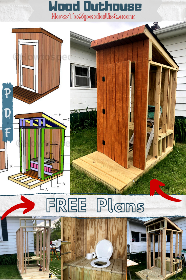 Free Outhouse Plans Howtospecialist How To Build Step By Step Diy Plans In 2020 Building An Outhouse How To Plan Diy Plans