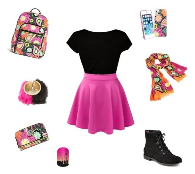 """Black and pink"" by mpto ❤ liked on Polyvore"