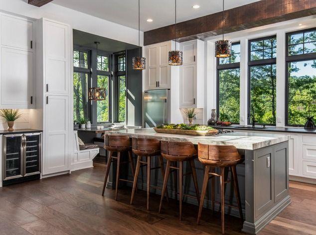 Best Organic Modern Mountain Home Interior Design Kitchen 400 x 300