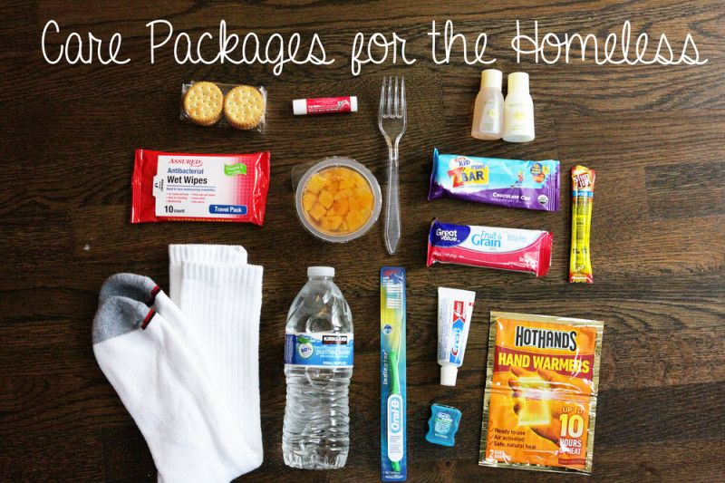 Where to Donate Homeless care package, Holiday care