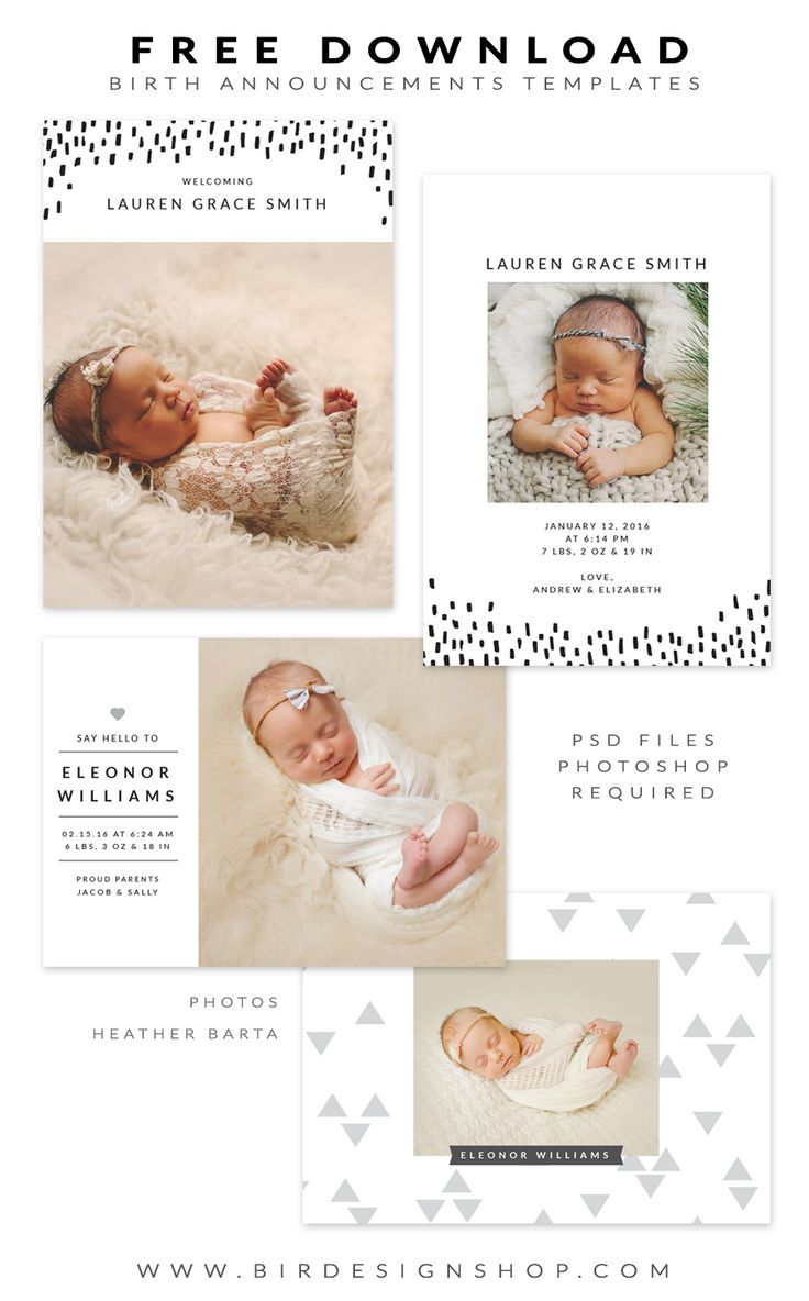 Free Birth Announcements Templates January Freebie Birth Announcement Template Baby Announcement Cards Diy Birth Announcement