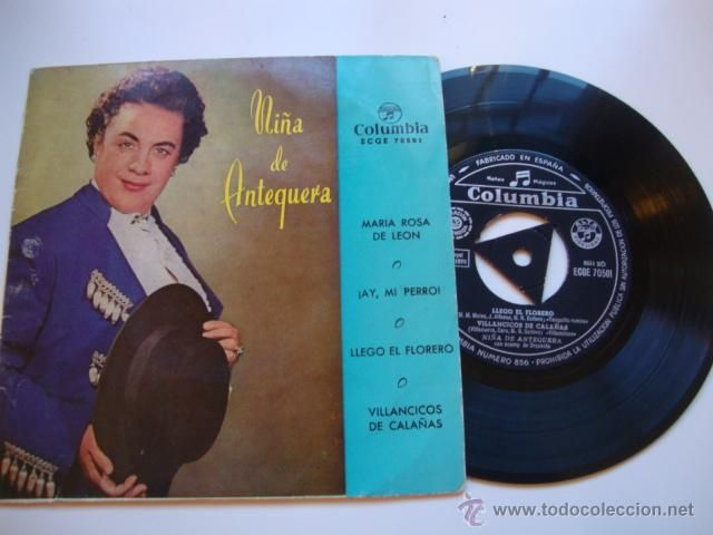 DISCO SINGLE ORIGINAL VINILO EPS FLAMENCO NIÑA DE ANTEQUERA
