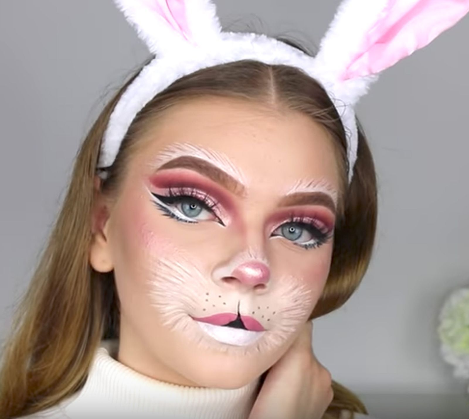 60 Halloween Makeup Ideas For Every Single Skill Level Yes Even Yours Halloween Makeup Pretty Cute Halloween Makeup Bunny Halloween Makeup