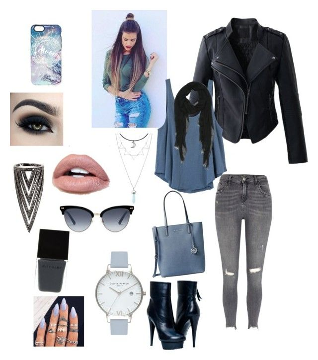 """""""Moon🌑"""" by schmeelly on Polyvore featuring Mode, MICHAEL Michael Kors, River Island, Chicwish, RVCA, Too Faced Cosmetics, Gucci, Olivia Burton, Lynn Ban und Witchery"""