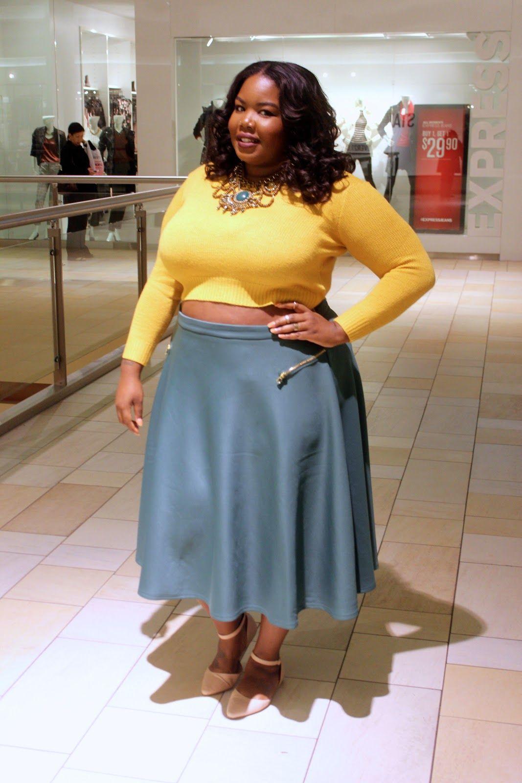 plus size fashion - midi skirt | plus size fashion | pinterest