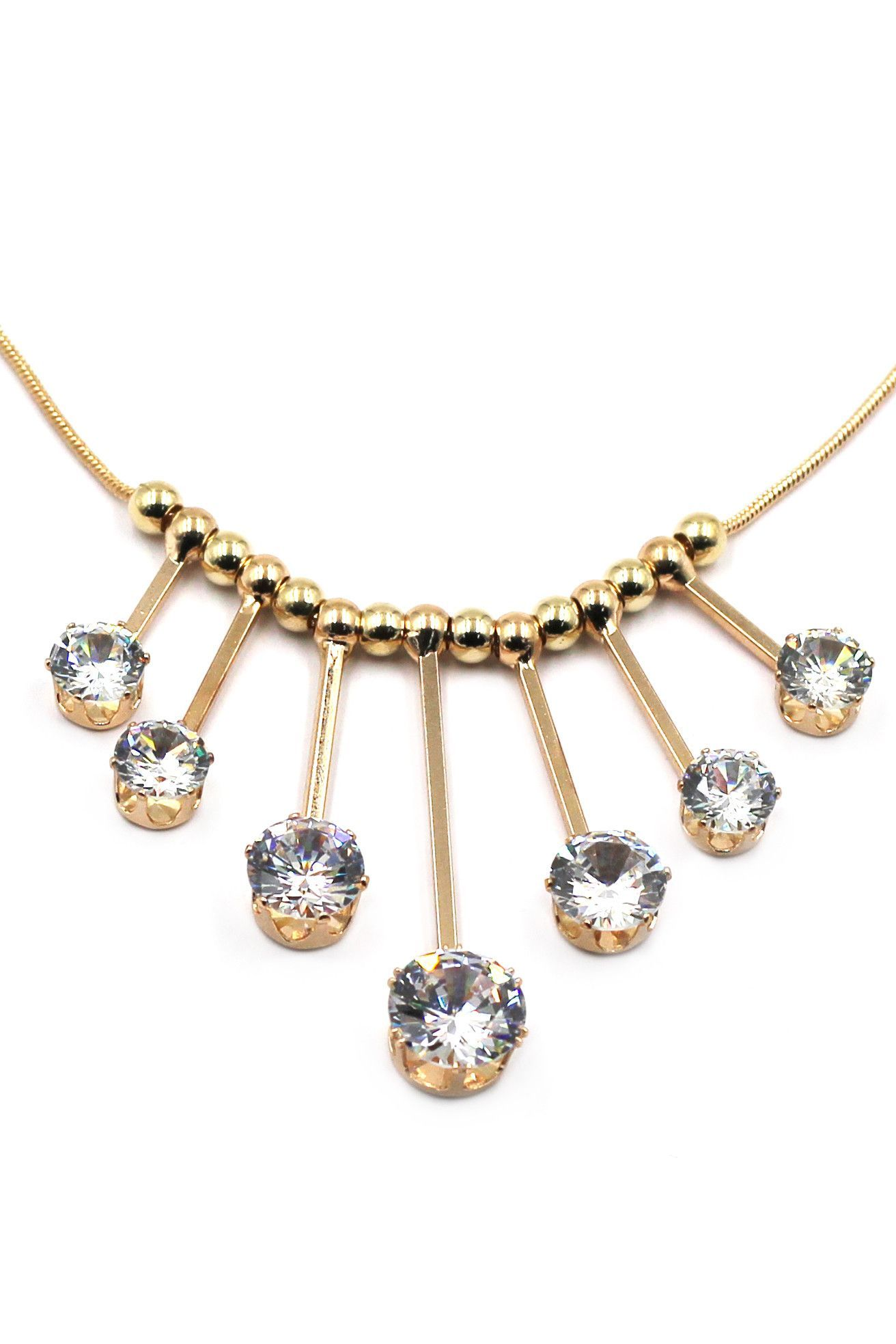 noble hammer large crystal metal necklace