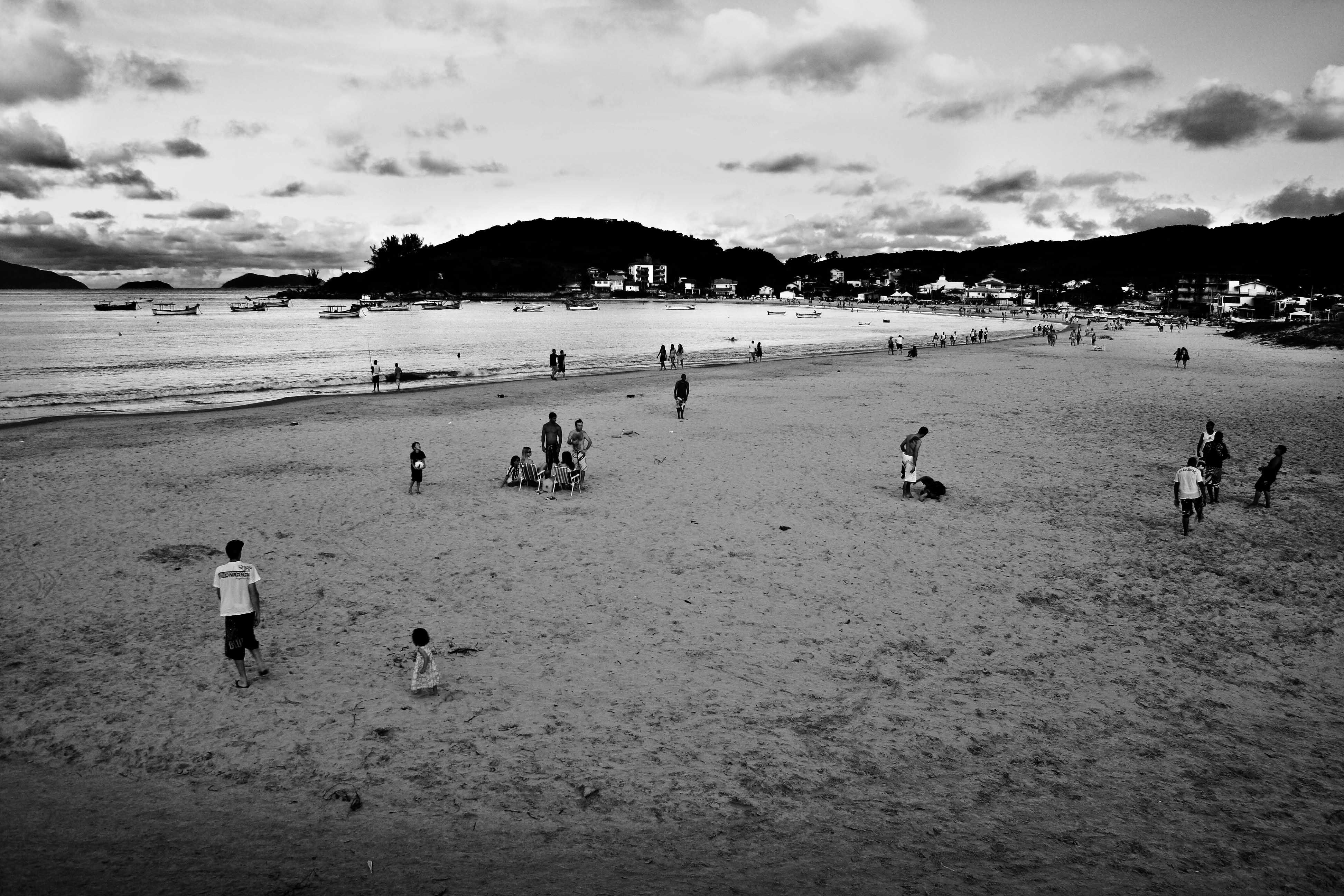 Praia da Pinheira, Santa Catarina, Brasil.
