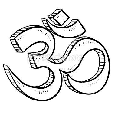 Doodle Style Hindu Om Or Yoga Symbol Sketch In Vector Format Eps10 Yoga Symbols Symbols Image Symbols