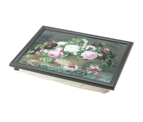Bean Bag Cushion Tv Dinner Padded Lap Tray Decorative Old English Rose Design Ebay