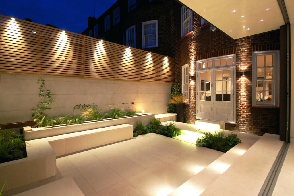 Image Result For External Garden Lights Small Courtyard