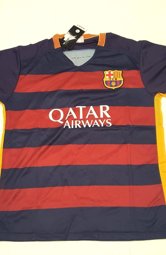 Fcb Barcelona Qatar Airways T Shirts Shorts Set Fcb Sports With Logo Replica X