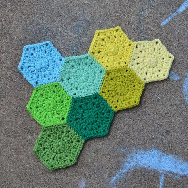 Hexágono | Crochet patrones | Pinterest | Quadrate, Stricken und Häkeln
