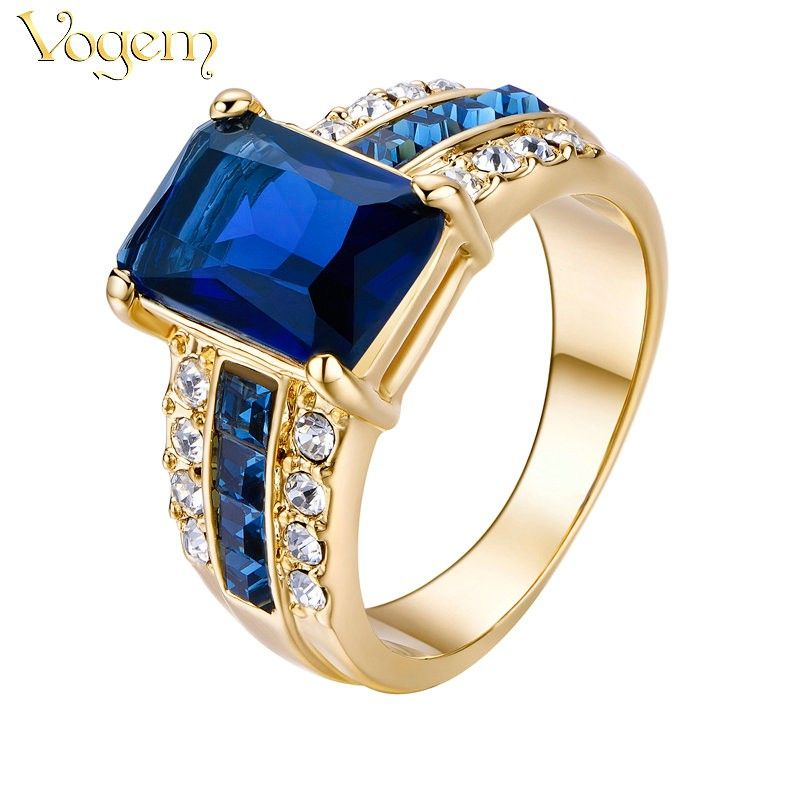 VOGEM Gold 585 Fashion Couple Rings for Men and Women $23 50