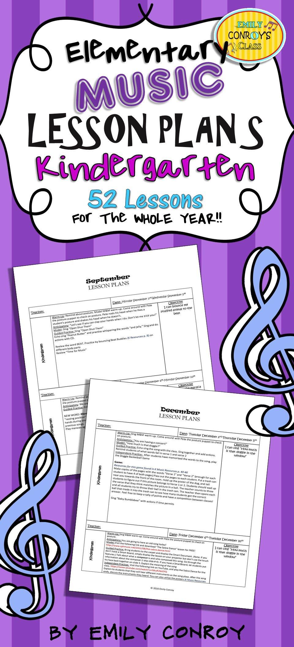 Kindergarten Music Lesson Plans (Set #1) | Kindergarten ...