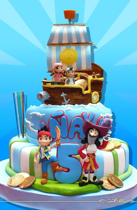 Jake & the Neverland Pirates Hook cake