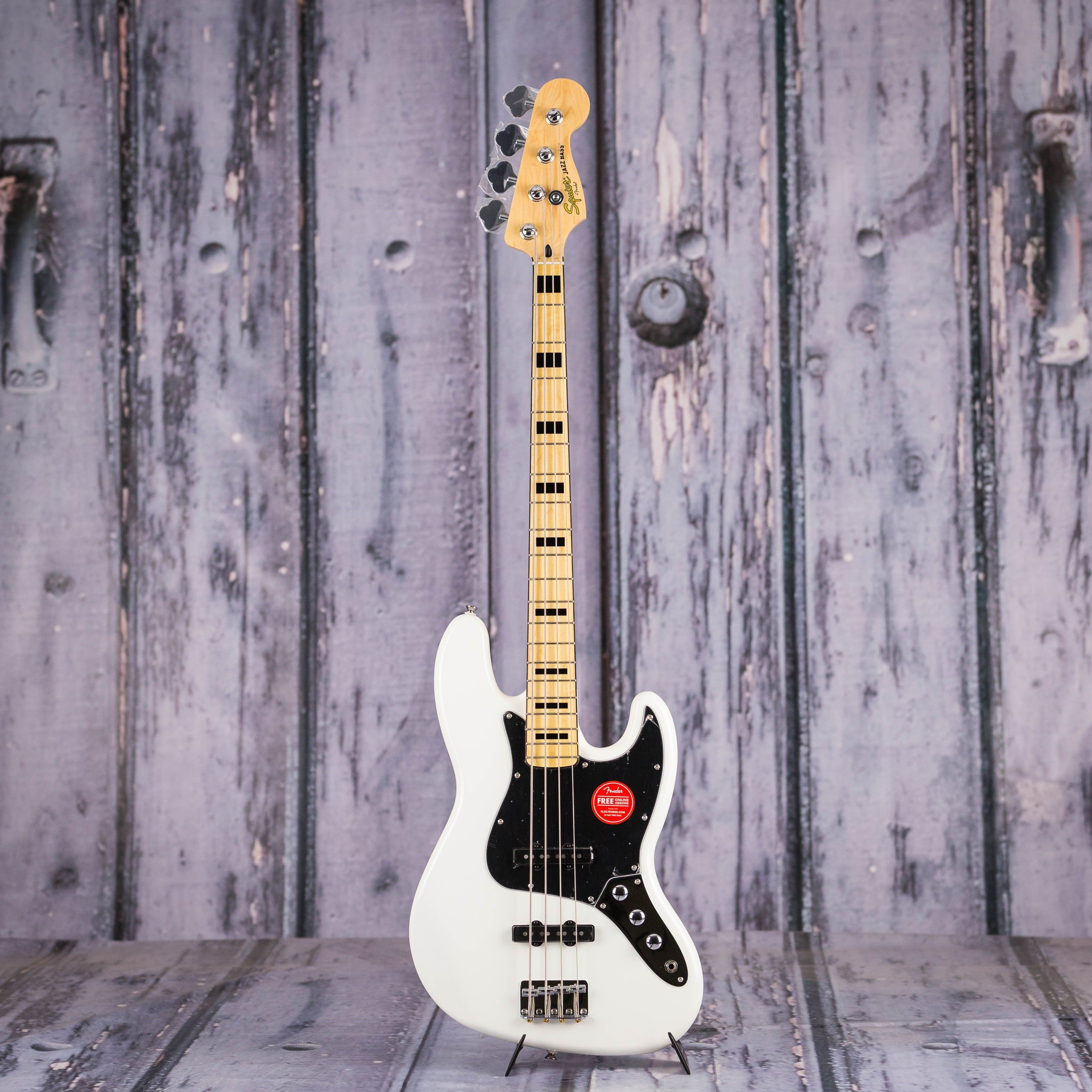 Squier Vintage Modified 70s Jazz Bass Olympic White Squier Music Stuff Vintage