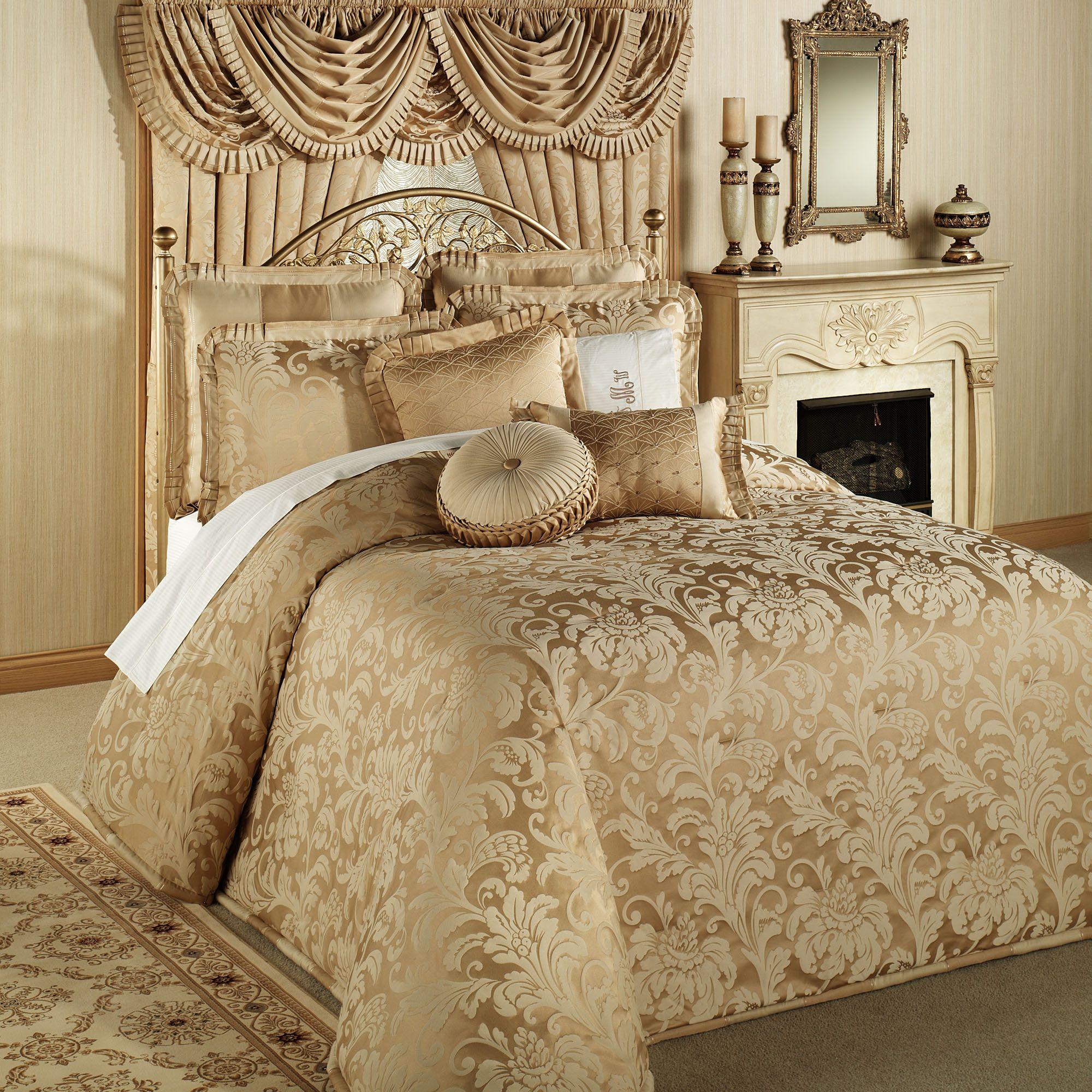 Regent Gold Oversized Bedspread Bedding | King size bedroom sets