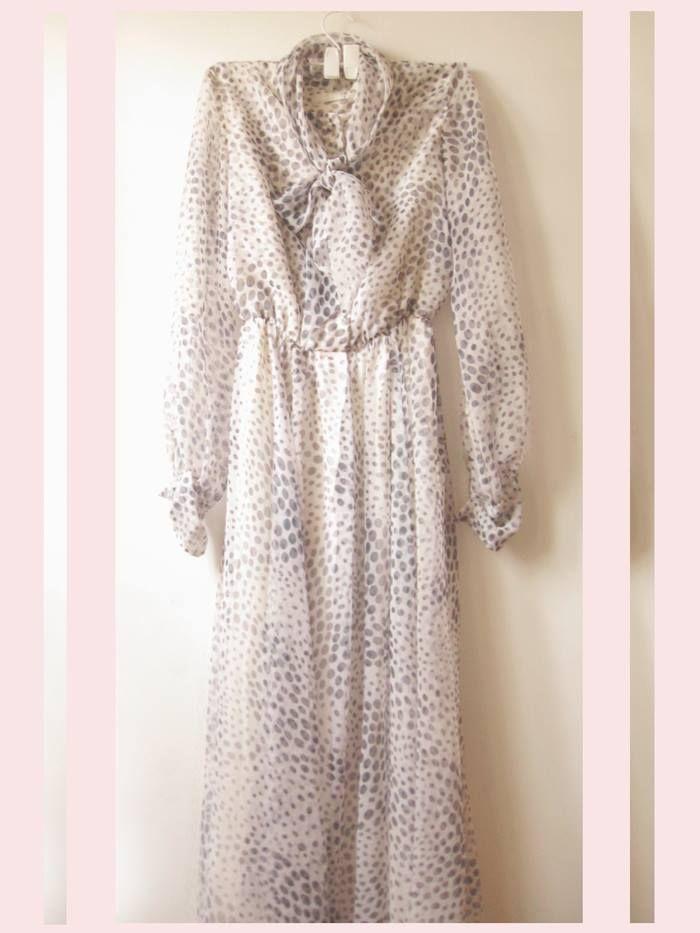 vestido gasa antique