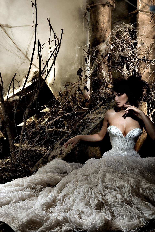 Michael Cinco wedding dress shoot. at Desert Fish Studio