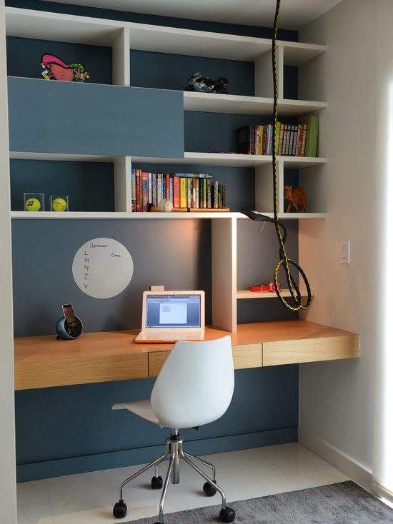 mueble escritorio mural para casa | Recreate home | Pinterest ...