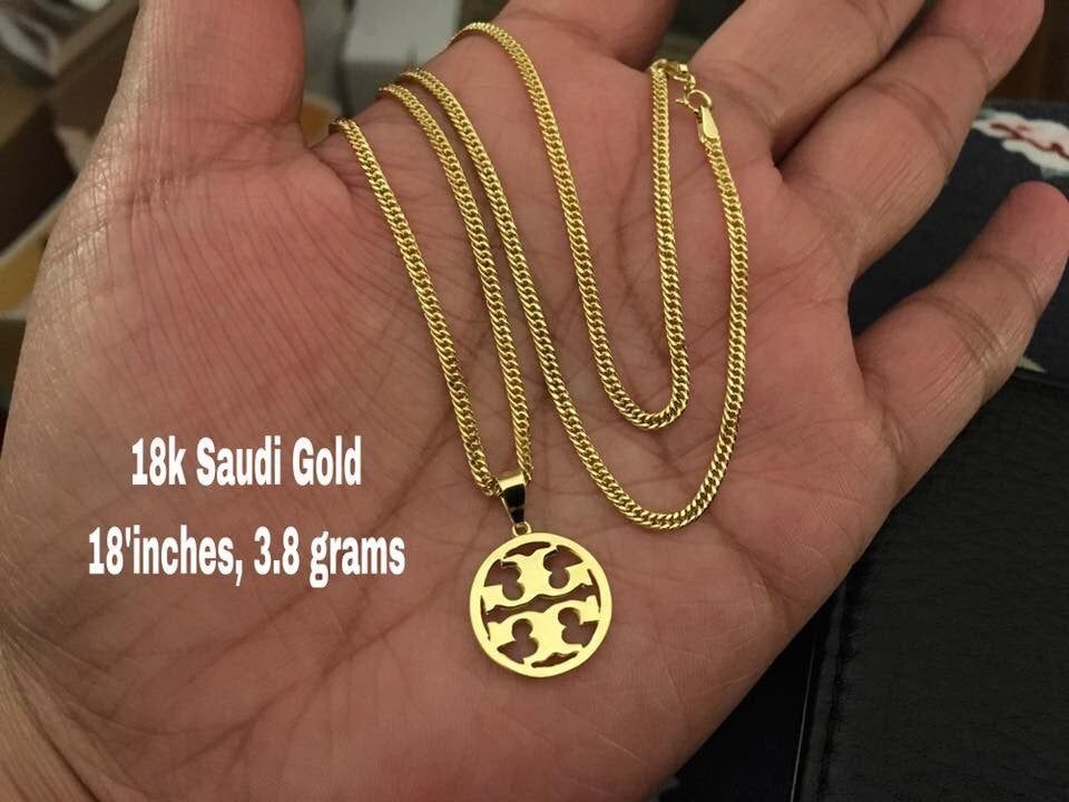 Pure Authentic 18k Saudi Gold Design Shown Weight 3 8 Grams Authentic Never Fades Not Plated Memory From Your Hardwor Gold Gold Design Pure Products