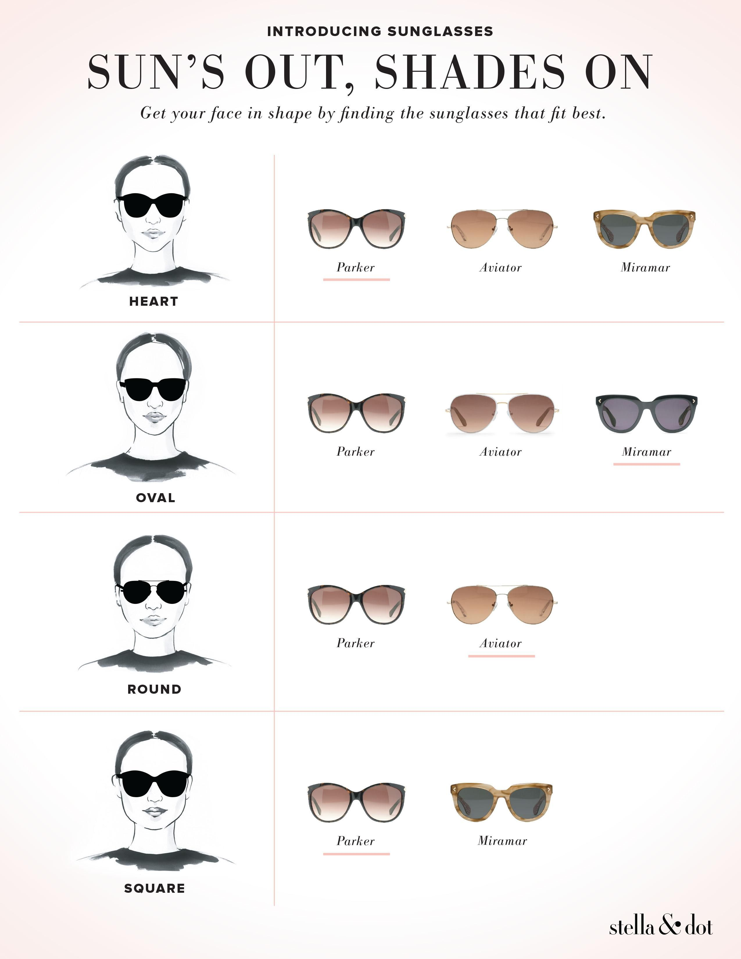 f8dedb77e8 Ever wondered what sunglasses to wear with your face shape  The best shape  for every face