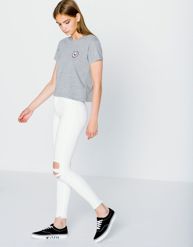 c65c5358215b RIPPED SKINNY HIGH RISE JEANS - NEW PRODUCTS - WOMAN - PULL&BEAR Austria