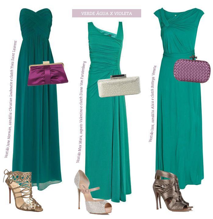 Sandalia para usar com vestido verde agua