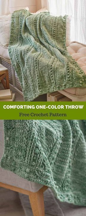 Comforting One Color Throw Free Crochet Pattern Crochet