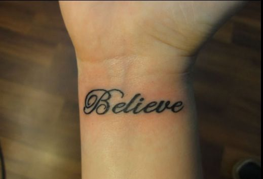 This Is The Tattoo I Want Believe