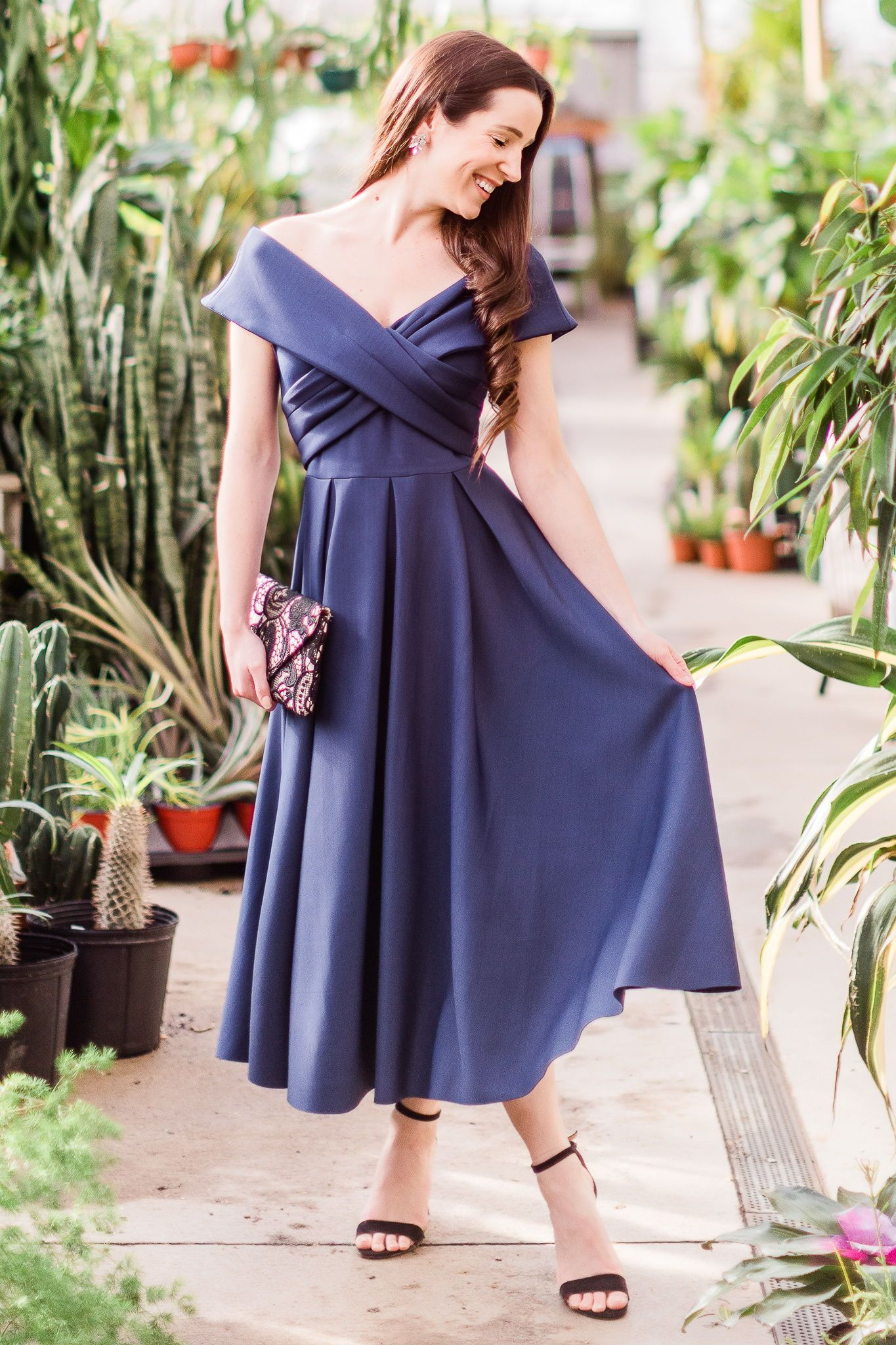 Style Guide What To Wear To A Garden Party Wedding Garden Party Outfit Wedding Guest Dress Styles Off Shoulder Fashion [ 2048 x 1365 Pixel ]