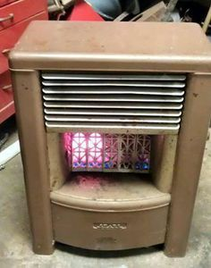 old gas space heater nostalgia vintage appliances childhood memories 1980s childhood. Black Bedroom Furniture Sets. Home Design Ideas