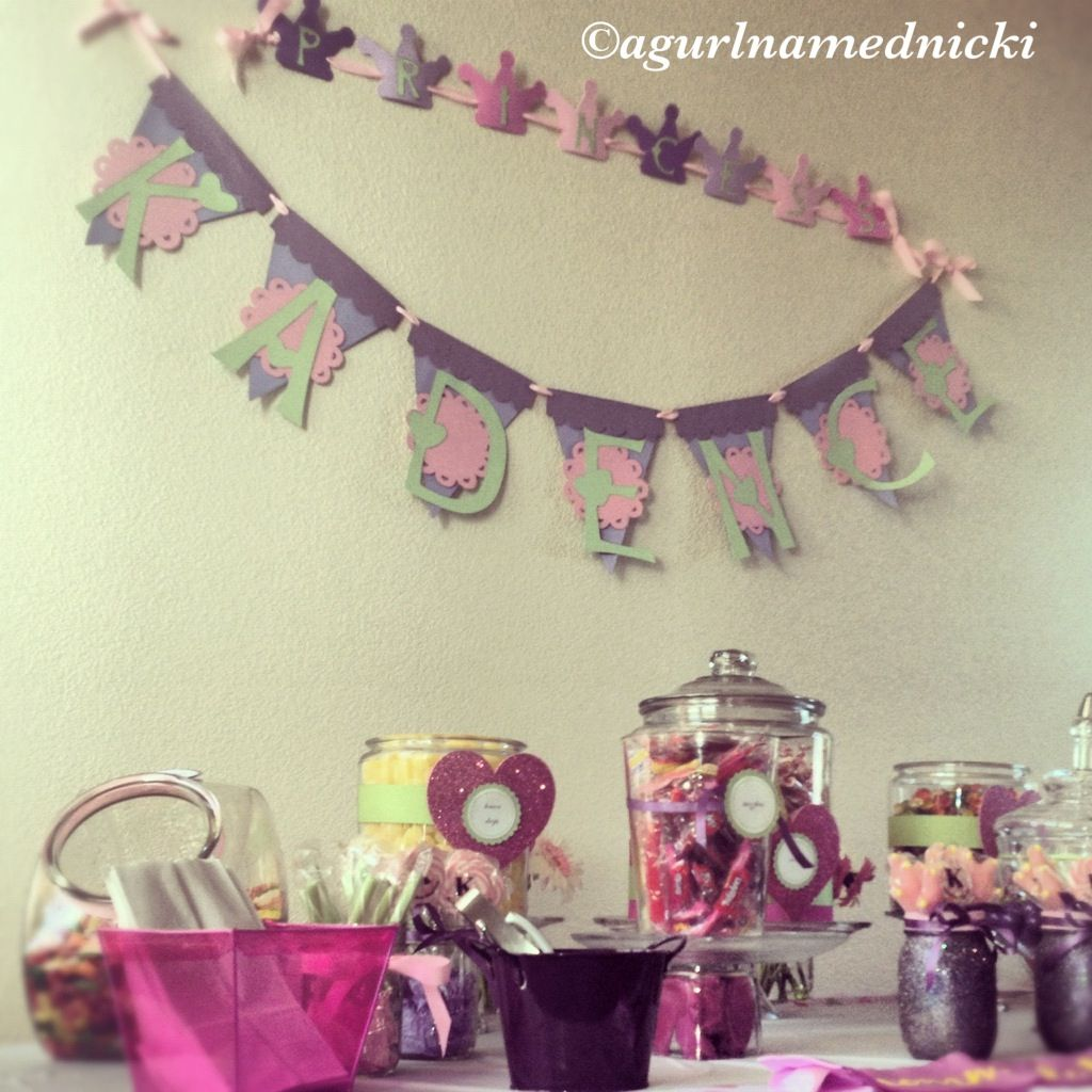 Banner and Candy Buffet.