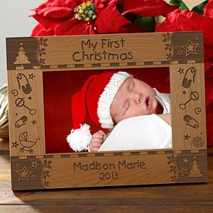 My first christmas personalized baby picture frame 4x6 my first christmas personalized baby picture frame 4x6 negle Image collections