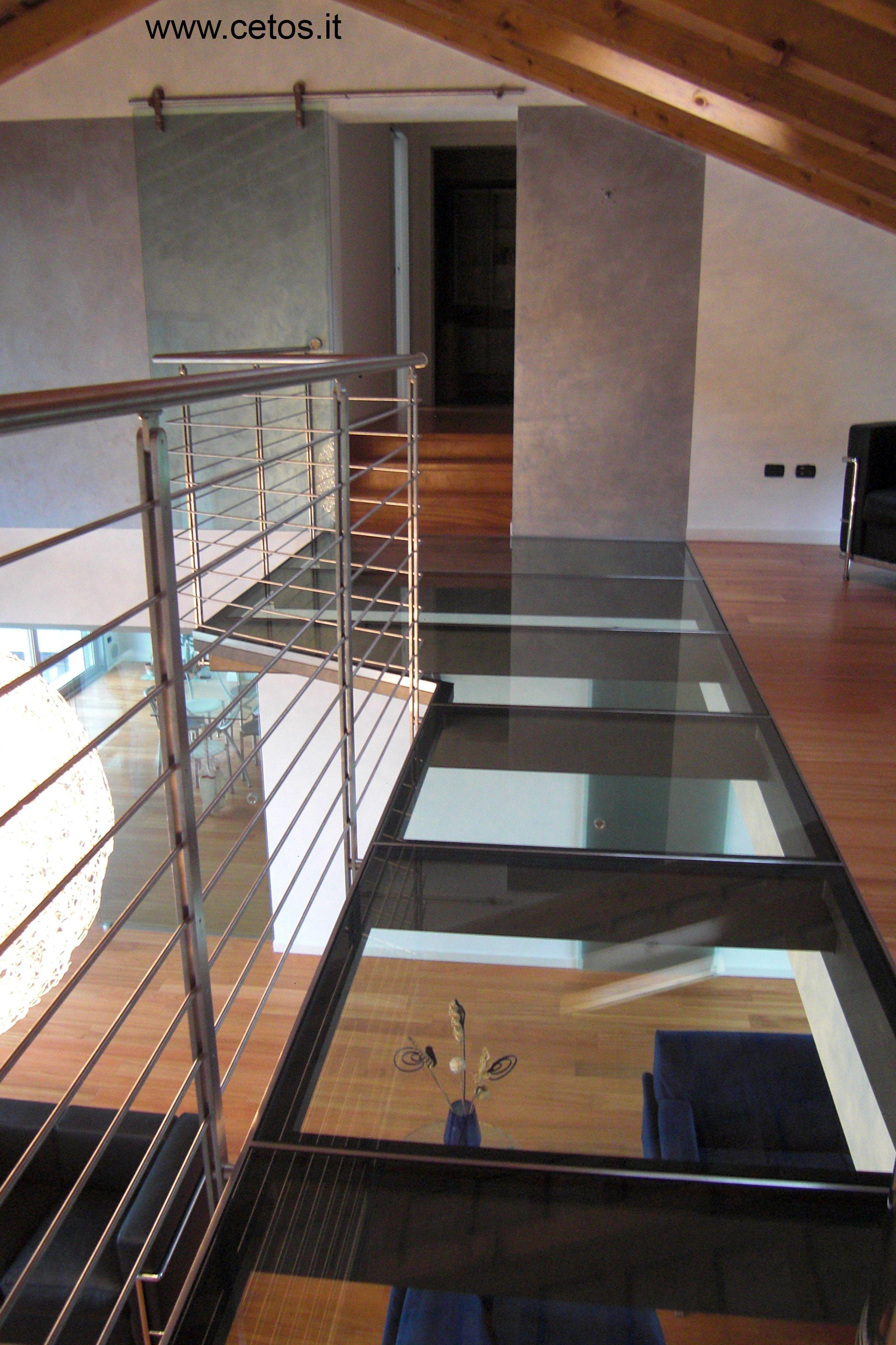 Soppalco in acciaio e vetro Case piccole moderne, Design