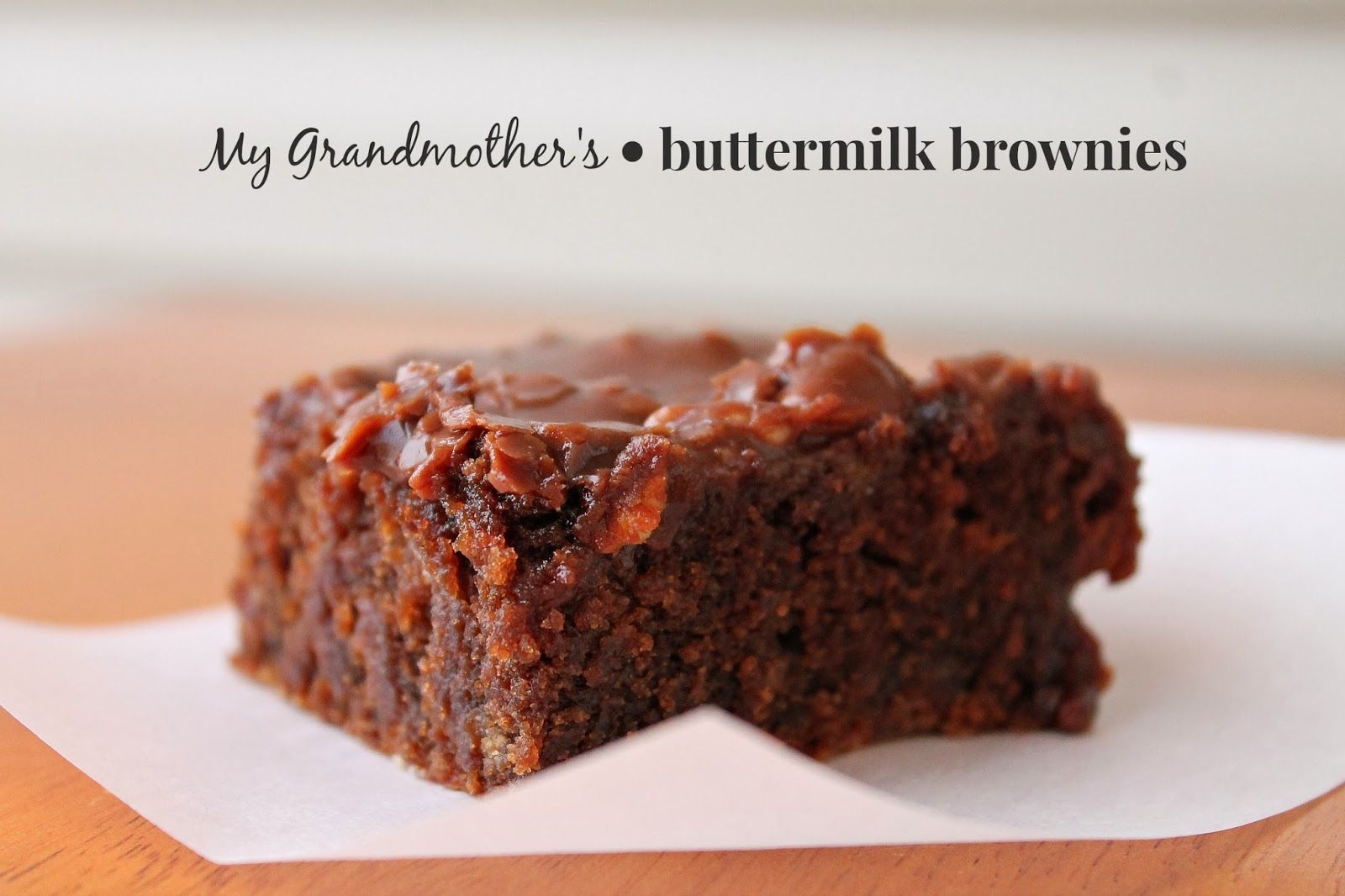 Louisiana Bride My Grandmother S Buttermilk Brownies Buttermilk Brownies Buttermilk Recipes Brownie Recipes