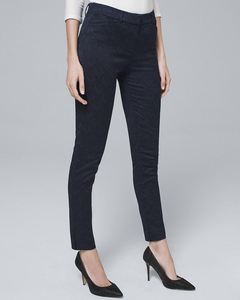 2ef6792c2eeb19 Women's Jacquard-Scroll Slim Ankle Pants by White House Black Market ...