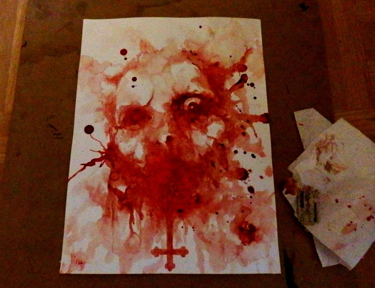 """Maxime Taccardi """"Šayṭān"""" (painted with my blood)"""