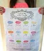 2013 Calendar Macaroon Tea Towel!  Get this calorie free goodie at: http://www.marirobeson.bigcartel.com