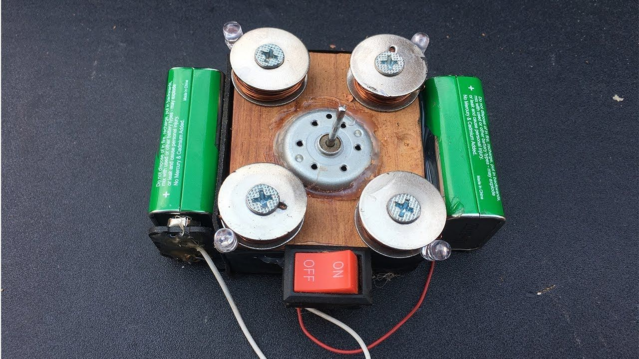 How to Make a Mini Free Energy Generator Using Small Electric DC