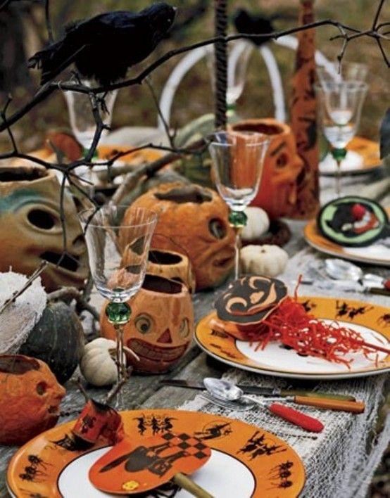 43 Cool Halloween Table Decor Ideas Halloween Pinterest