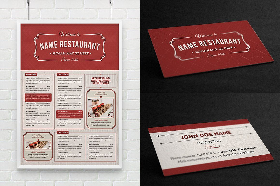 Classy Food Menu 2 by Luuqas Design on @creativemarket | Layouts ...