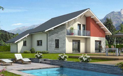 Maison moderne Mont-Revard - plan maison gratuit Backen Pinterest - maisons plain pied plans gratuits