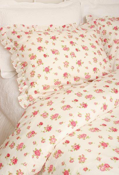 Elizabeth Shabby N Chic Pink Roses Duvet Comforter Cover Set
