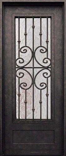 Fabricacion de puertas de hierro herreria artistica a for Puertas de herreria artistica