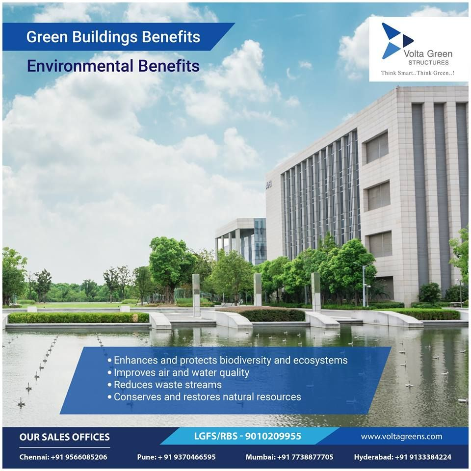 Green Buildings Benefits Environmental Benefits Enhances And